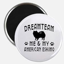 American Eskimo Dog Designs Magnet