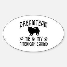 American Eskimo Dog Designs Sticker (Oval)