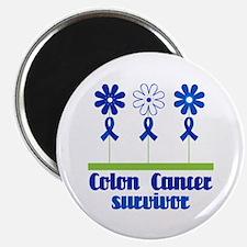 Colon Cancer Survivor (flowered) Magnet