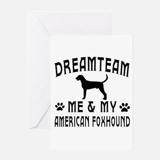 American Foxhound Dog Designs Greeting Card