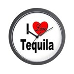 I Love Tequila Wall Clock