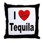 I Love Tequila Throw Pillow