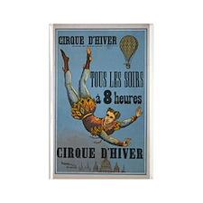 Vintage French Acrobat Poster Rectangle Magnet