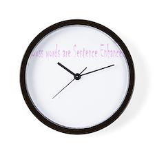 Cuss Words are Sentence Enhancers Wall Clock