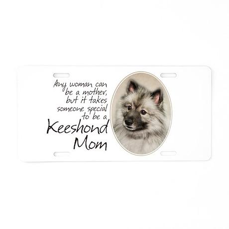 Keeshond Mom Aluminum License Plate