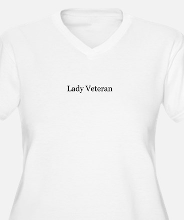 Lady Veteran Design Plus Size T-Shirt