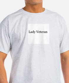 Lady Veteran Design T-Shirt