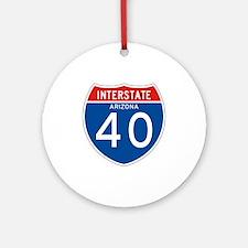 Interstate 40 - AZ Ornament (Round)