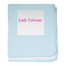 Lady Veteran in Pink! baby blanket