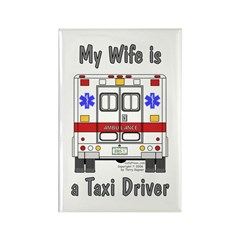 Taxi Driver Wife Rectangle Magnet (10 pack)