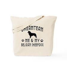 Belgian Sheepdog Dog Designs Tote Bag