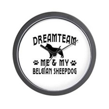 Belgian Sheepdog Dog Designs Wall Clock