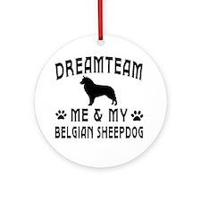 Belgian Sheepdog Dog Designs Ornament (Round)
