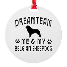 Belgian Sheepdog Dog Designs Ornament