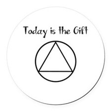 Today is the Gift Round Car Magnet