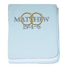 Matthew 19:4-6 baby blanket