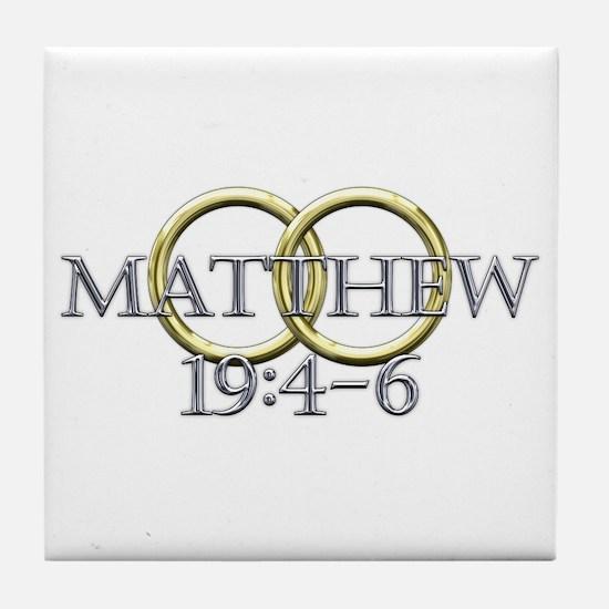 Matthew 19:4-6 Tile Coaster