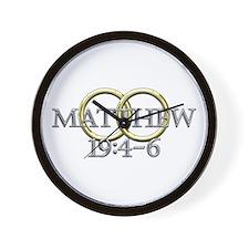 Matthew 19:4-6 Wall Clock