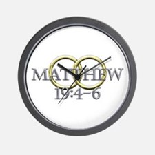 Matthew 19:4-6 Wall Clock