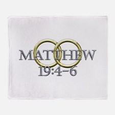 Matthew 19:4-6 Throw Blanket