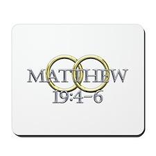 Matthew 19:4-6 Mousepad