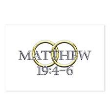 Matthew 19:4-6 Postcards (Package of 8)