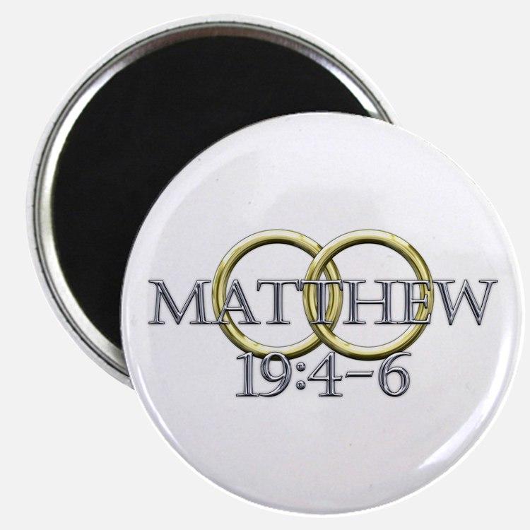 """Matthew 19:4-6 2.25"""" Magnet (10 pack)"""