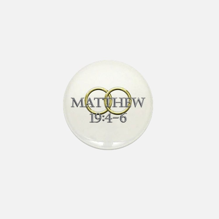 Matthew 19:4-6 Mini Button (10 pack)