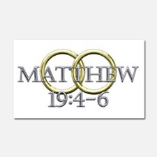 Matthew 19:4-6 Car Magnet 20 x 12
