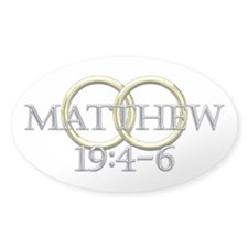 Matthew 19:4-6 Bumper Stickers