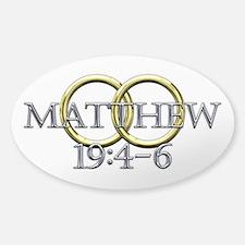 Matthew 19:4-6 Decal
