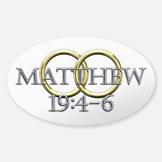 Matthew 19:4-6 Sticker (Oval)