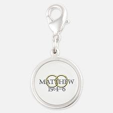 Matthew 19:4-6 Silver Round Charm