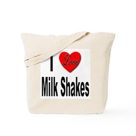 I Love Milk Shakes Tote Bag