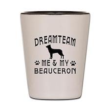 Beauceron Dog Designs Shot Glass