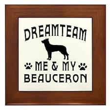Beauceron Dog Designs Framed Tile