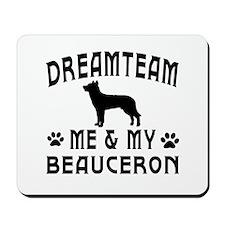 Beauceron Dog Designs Mousepad