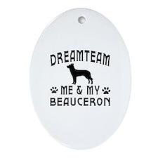 Beauceron Dog Designs Ornament (Oval)