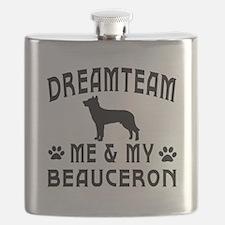 Beauceron Dog Designs Flask