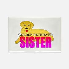 Golden Retriever Sister Rectangle Magnet