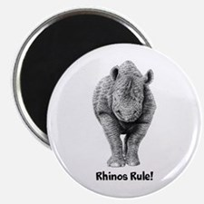 "Rhinos Rule! 2.25"" Magnet (10 pack)"