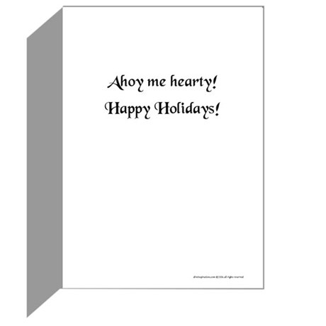 Christmas Pirate Greeting Cards #2 (Pk of 10)