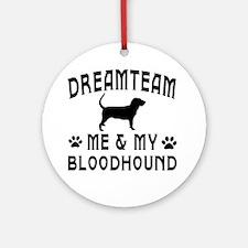 Bloodhound Dog Designs Ornament (Round)
