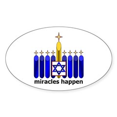 Oval Sticker - miracles