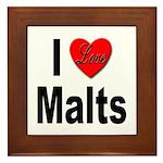 I Love Malts Framed Tile