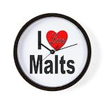 I Love Malts Wall Clock