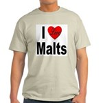 I Love Malts Ash Grey T-Shirt