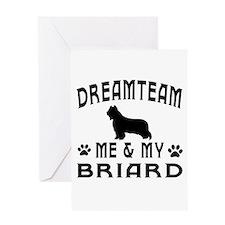 Briard Dog Designs Greeting Card