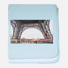 Paris Eiffel Tower baby blanket