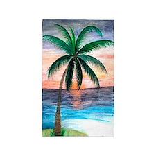 Sunset Palm Tree 3'x5' Area Rug